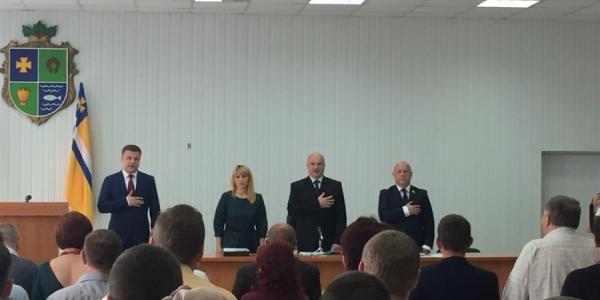 Сессия Кременчугского райсовета началась с технической заминки