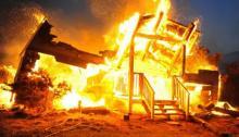 В районе ул. Московской сгорела деревянная пристройка