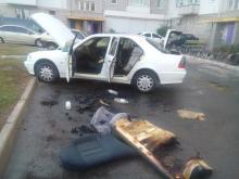 В Кременчуге горел белый «Mercedes»