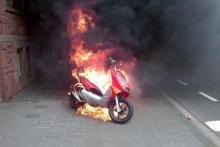 На Раковке горел мопед