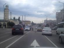 В Кременчуге напротив пожарной части произошло ДТП