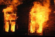 В Новой Знаменке на доме сгорела крыша