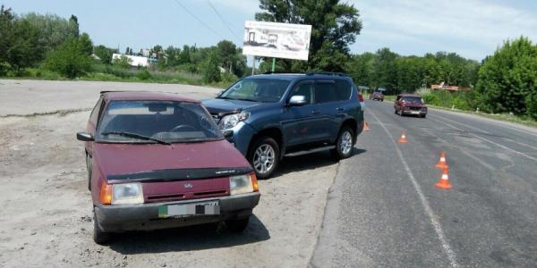 Три машины столкнулись в Кременчуге по дороге на Полтаву
