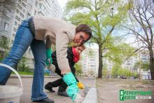 Ради чистоты и красоты: депутат облсовета Макаруша с единомышленниками вышли на субботник