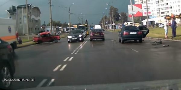 В аварии в Кременчуге пострадал ребенок и двое взрослых