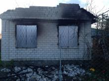 В Чечелево полностью сгорела дача