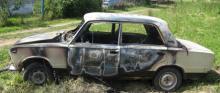 Автомобиль горел на глазах у хозяина