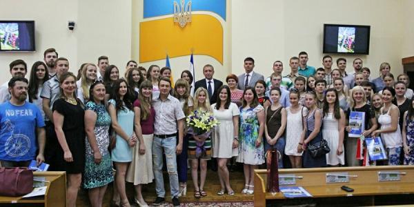 Самых активных молодых кременчужан поздравили с Днем молодежи