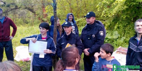 В Кременчуге детям в лес вызывали полицию