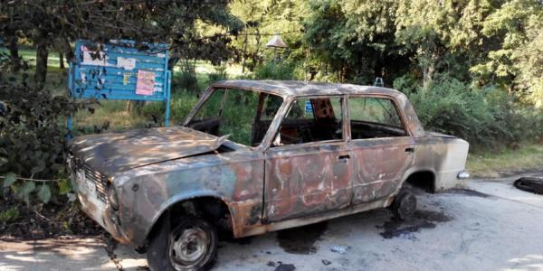 В Горишних плавнях практически сгорел автомобиль