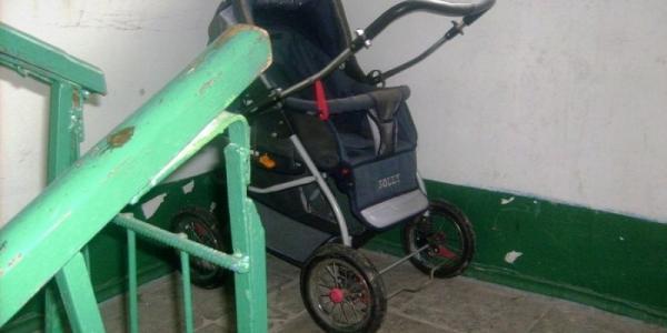 В центре города «угнали» детскую коляску