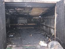 В гаражном кооперативе «Днепр 1» возник пожар