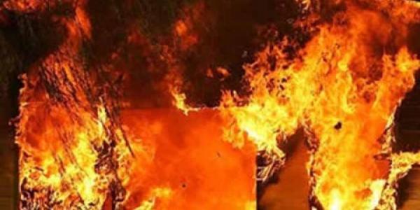 В Кременчуге в сарае сгорел человек