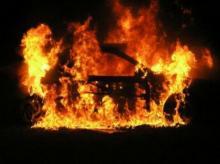 Под Кременчугом сгорел автомобиль
