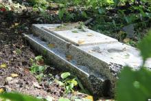 На Новореевском кладбище массовое разрушение могил