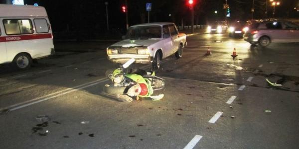 В Кременчуге произошло 2 столкновения авто со скутером