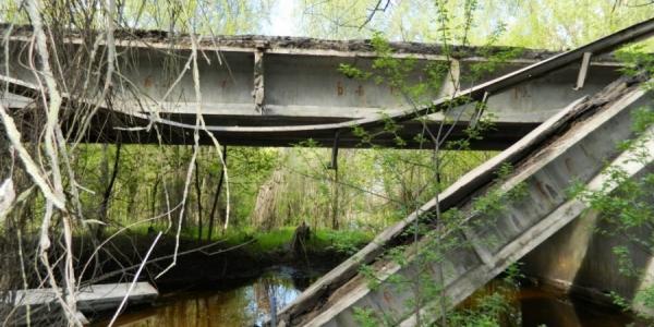 В Полтавской области частично обвалился мост