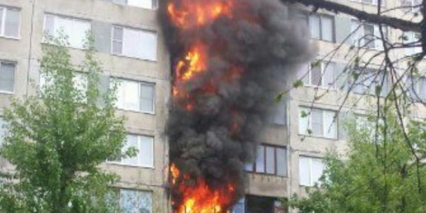 Из-за неосторожного курения в Кременчуге загорелся балкон