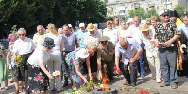 Кременчужане помянули жертв войны, которая началась ровно 75 лет назад