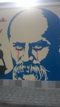 Обновленное граффити Шевченко осквернено повторно