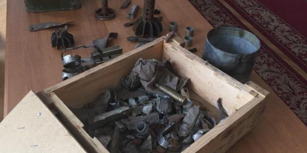 В Кременчуге проходит выставка экспонатов, привезенных из зоны АТО
