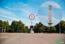 В Кременчуге до 20 апреля «срежут» серп и молот на площади Независимости