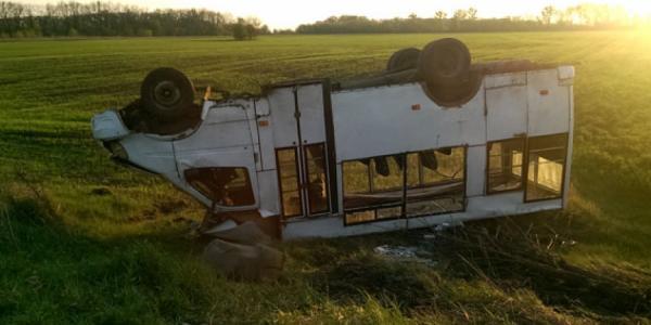 На Полтавщине перевернулась маршрутка: пострадало пять человек