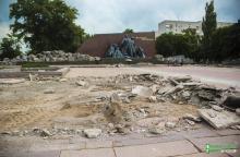 Ко Дню города планируется закончить работы по реконструкции мемориала «Вечно живым»