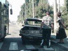 На Ковалева милицейская Shkoda «ударила» ВАЗ
