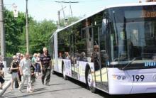 В Кременчуге остановились троллейбусы