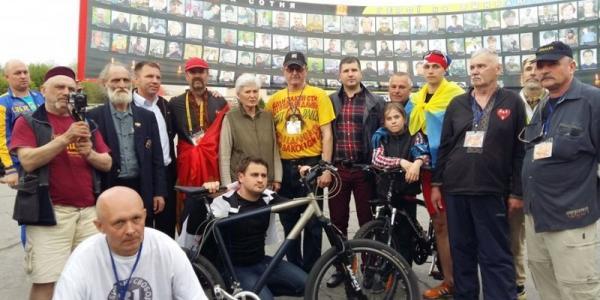 Маршрут всемирного велопробега «Стоп войне» прошел через Кременчуг
