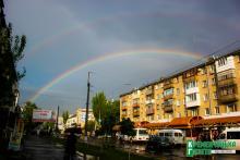 «Разноцветное коромысло» над Кременчугом зависло