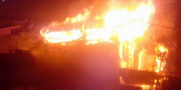 Под Кременчугом сгорело 3 тонны пшеницы