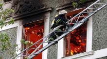 Жители дома по ул. Циолковского остались без газа из-за пожара
