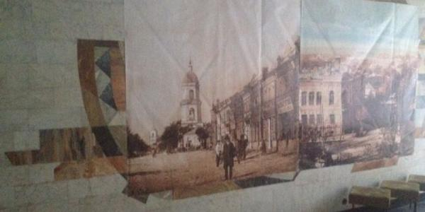 Фотофакт: Ленина закрыли старым Кременчугом