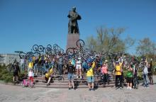 В Кременчуге прошла патриотическая акция велосипедистов