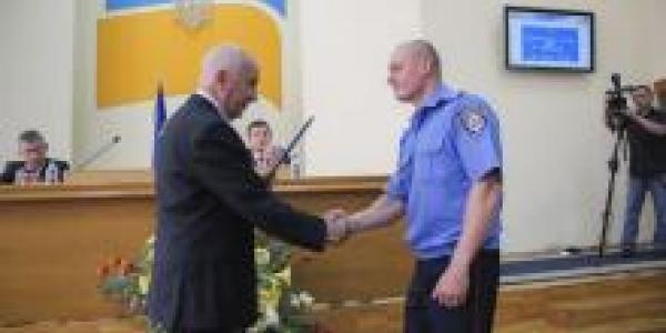 Мэрия наградила милиционеров, задержавших грабителей ювелирки