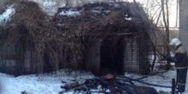 В Тополином переулке сожгли сарай