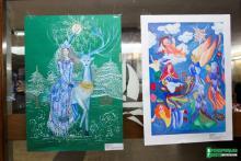 В Кременчуге лучшие художники Полтавщины «разукрасили» городской Дворец культуры