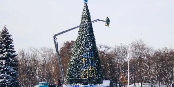 Главная елка Кременчуга с 18 декабря будет работать в режиме nonstop