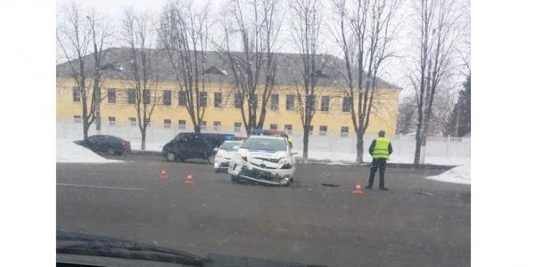 Кременчугские копы врезались в Chevrolet
