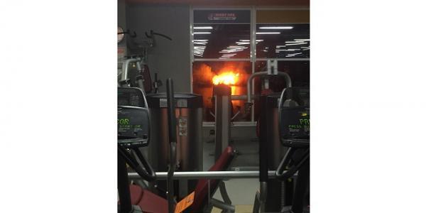 Пожар на Сухом Кагамлыке было видно через окна Sport Life