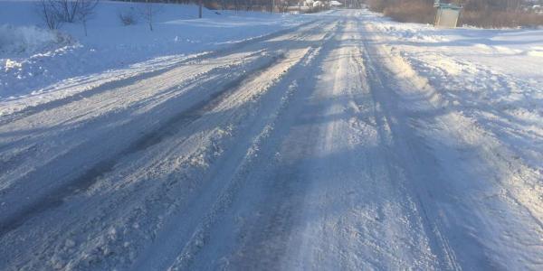 Трасса Кременчуг-Хорол занесена снегом
