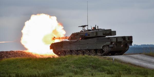 Украинские танкисты, во главе с выпускником Кременчугского военного лицея Багаевым, принимают участие в танковом биатлоне НАТО