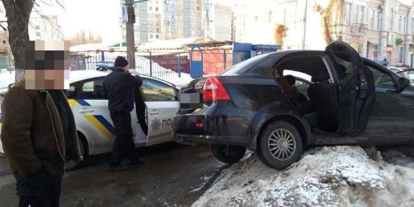 В Кременчуге пьяный водитель «вляпался» в ДТП