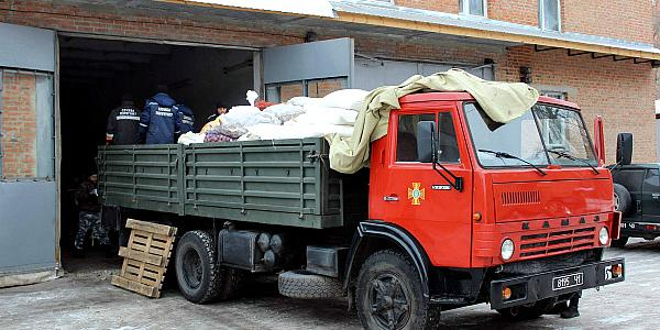 Полтавщина за два дня собрала жителям Авдеевки 15 тонн помощи