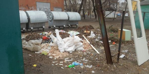 Жители домов по ул. Первомайской утопают в мусоре