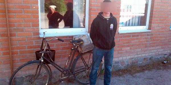 В Кременчугском районе угонщику велосипеда далеко уехать не удалось