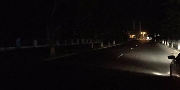 У центрі Кременчука вулиці вночі не освітлюються