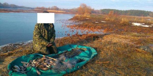 Возле Кривушей задержали браконьера за незаконную рыбалку